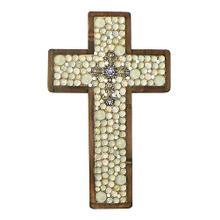 Cream Jeweled Large Cross
