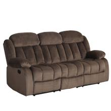 See Details - Reclining Sofa - Chocolate (Teddy Bear Collection)