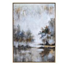 Neutral Haze Framed Oil Painting