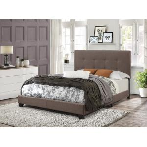 Square Dark Mocha Button Tufted King All-in-One Bed