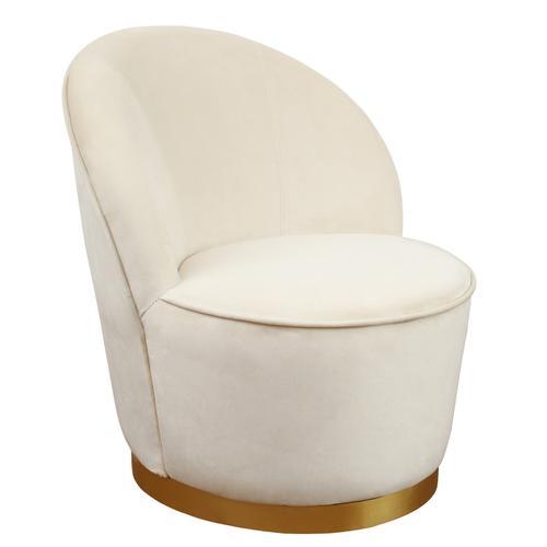 Tov Furniture - Julia Ivory Velvet Chair