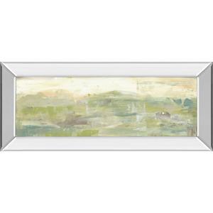 """Greenery Horizon Line III"" By Jennifer Goldberger Mirror Framed Print Wall Art"