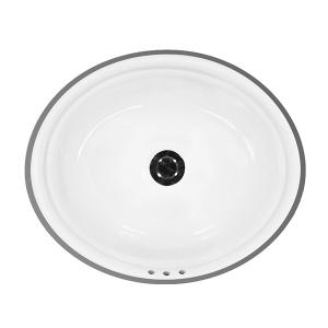 """White WILSHIRE Undermount Lavatory, 17"""" Product Image"""