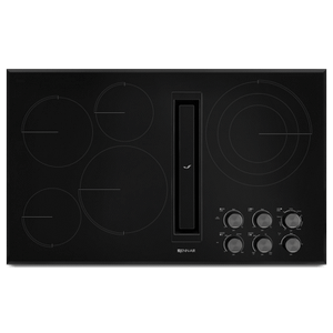 "Black Floating Glass 36"" JX3 Electric Downdraft Cooktop Product Image"