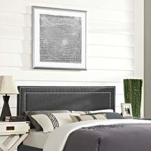 View Product - Jessamine King Upholstered Fabric Headboard in Gray
