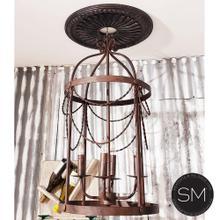 Lighting Fixtures- Iron Chandelier Cage style,indoors Lighting Chandelier 4 lights