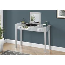 "VANITY - 42""L / MIRROR / SILVER WITH STORAGE"