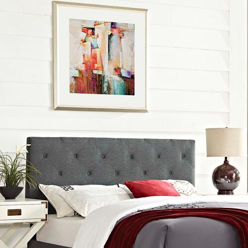 Modway - Terisa Queen Upholstered Fabric Headboard in Gray