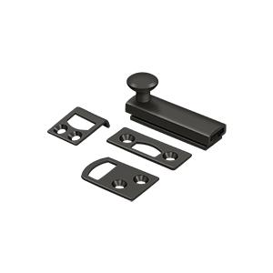 """Deltana - 2"""" Surface Bolt, Concealed Screw, HD - Oil-rubbed Bronze"""