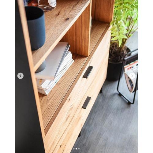 Modrest Fagan - Rustic Oak Bookcase