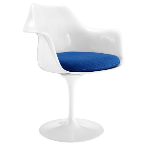 Lippa Dining Fabric Armchair in Blue