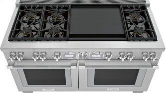 Dual Fuel Professional Range 60'' Pro Grand™ Commercial Depth PRD606WEG