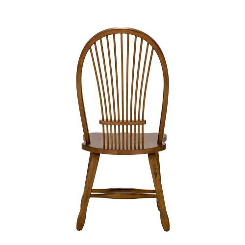 Sheaf Back Side Chair - Oak