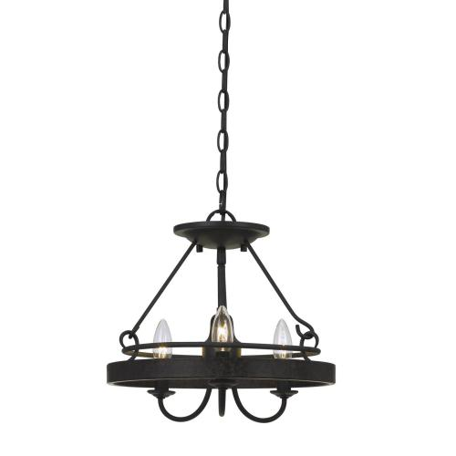60W X 3 Helena Metal 2 in 1 Pendant/Semi Flush Mount Fixture