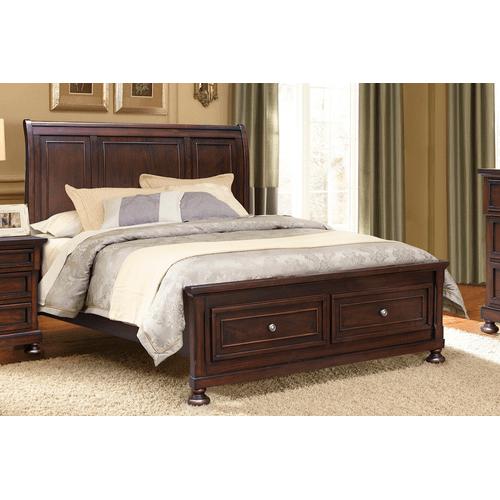 Cottage Creek Furniture - Willow Ridge Sleigh Storage Bed, King headboard