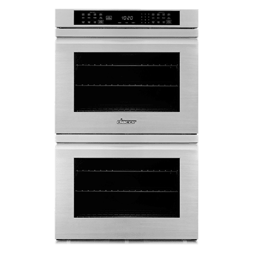 "30"" Double Wall Oven, Silver Stainless Steel with Flush Handle"
