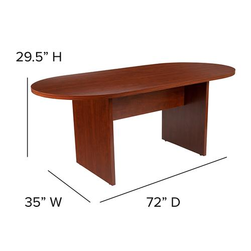 Gallery - 6 Foot (72 inch) Oval Conference Table in Cherry