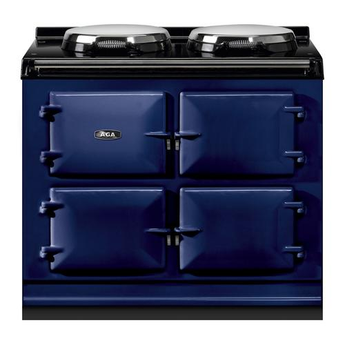"AGA Total Control 39"" Electric Dark Blue with Stainless Steel trim"