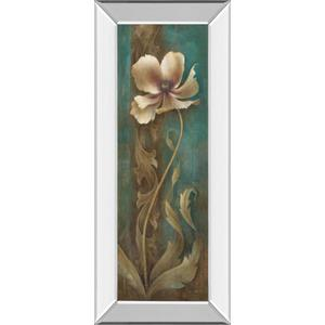 """Turquoise Flower Il"" Mirror Framed Print Wall Art"