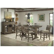 5040 Charleston 7-Piece Dining Set (with 4 upholstered chairs & 2 upholstered arm chairs)