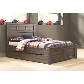 Juararo Full Panel Bed With Trundle or 1 Large Storage Drawer
