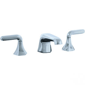 Hexa - 3 Hole Widespread Lavatory Faucet - Polished Nickel