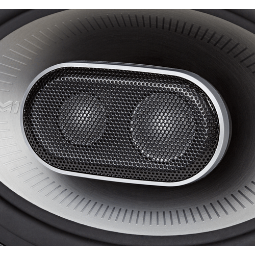 "MM1 Series 6x9"" Three Way Speakers with Ultra-Marine Certification in Black and Silver"