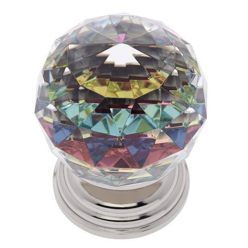 Polished Nickel 50 mm Round Prism Knob