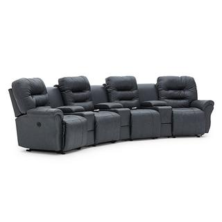 See Details - UNITY THEATER Reclining Sectional
