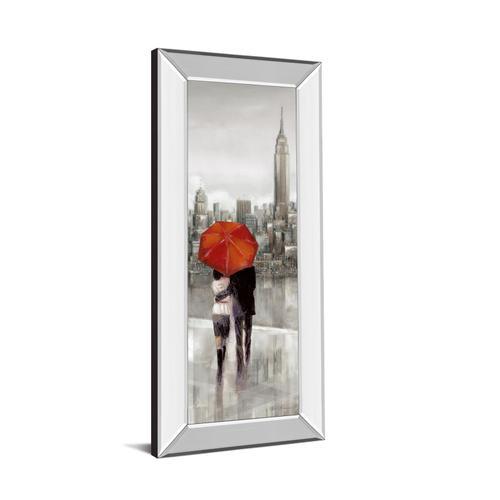 """New York Stroll"" By Ruanne Manning Mirror Framed Print Wall Art"