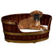 Walnut wooden dog bed