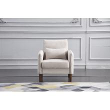 See Details - 8157 BEIGE Linen Stationary Basic Chair