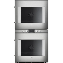 400 Series Double Oven 30'' Door Hinge: Right, Door Hinge: Right, Stainless Steel Behind Glass