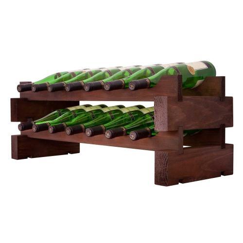 2 x 7 Bottle Modular Wine Rack (Stained)