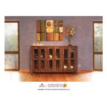 """See Details - 69"""" Console w/6 Glass doors"""