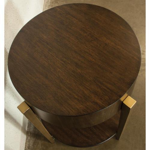 Dekker - Round Side Table - Roasted Walnut Finish