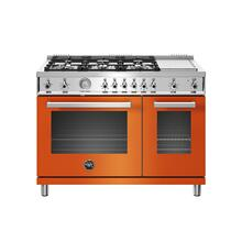 See Details - 48 inch All-Gas Range 6 Brass Burner and Griddle Arancio