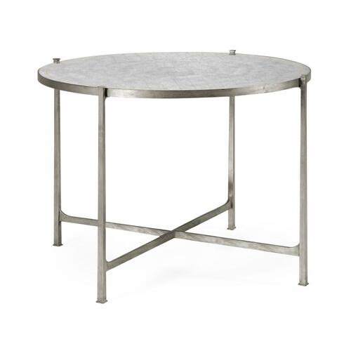 Transitional silver centre table