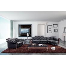 Divani Casa 5931 - Transitional Tufted Sectional Sofa & Love Seat