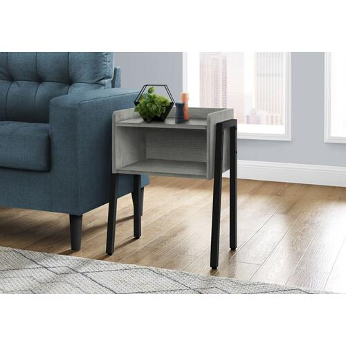 "ACCENT TABLE - 23""H / GREY / BLACK METAL"