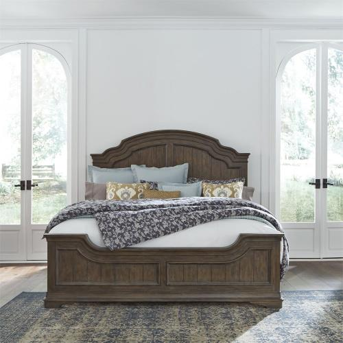 King Panel Bed, Dresser & Mirror, Chest