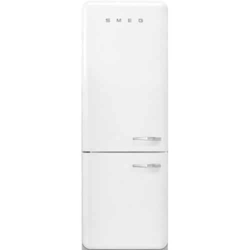 18 cu. ft. retro-style fridge, White, Left-hand hinge