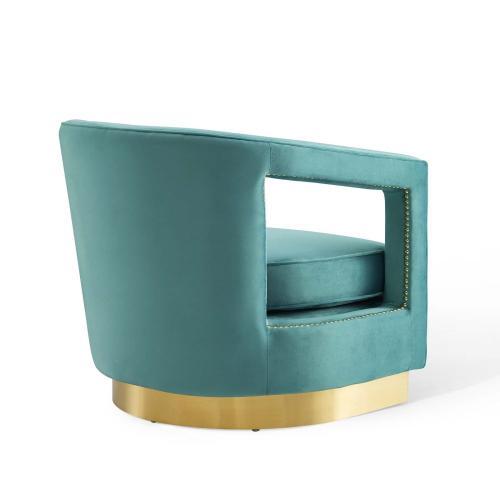 Modway - Frolick Performance Velvet Armchair in Mint