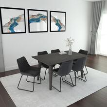 Ashland/Calvin 7pc Dining Set, Grey/Vintage Grey