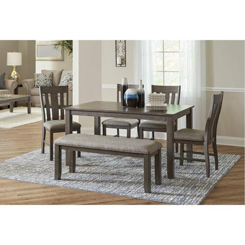 5045 Hawthorne 6-Piece Dining Set (Table, 4 Chairs, & Dining Bench)