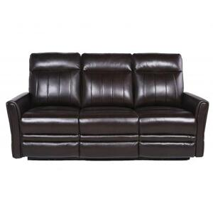 Coachella Dual Power Leather Recliner Sofa - Brown