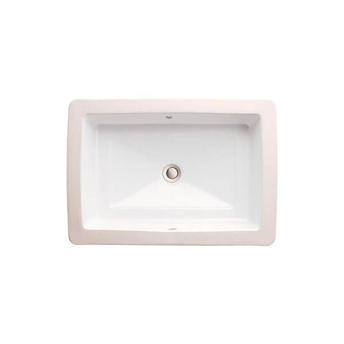 Dxv - Pop Petite Rectangle Under Counter Bathroom Sink - Canvas White