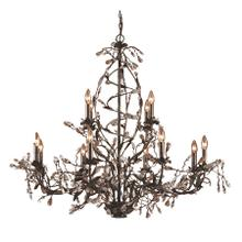 See Details - Circeo 12-Light Chandelier in Deep Rust with Crystal