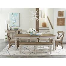 See Details - Southport - Dining Bench - Smokey White/antique Oak Finish