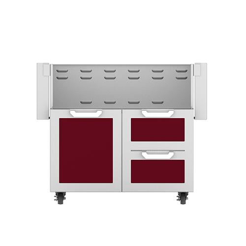"""Hestan - 36"""" Hestan Outdoor Tower Cart with Door/Drawer Combo - GCR Series - Tin-roof"""